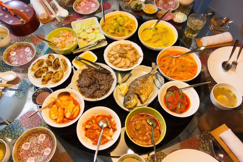 可口亚洲宴餐 免版税库存照片