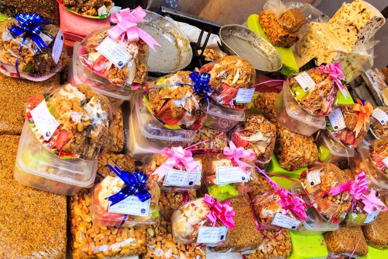 可口传统摩洛哥样式小杏仁饼糖果 免版税库存图片