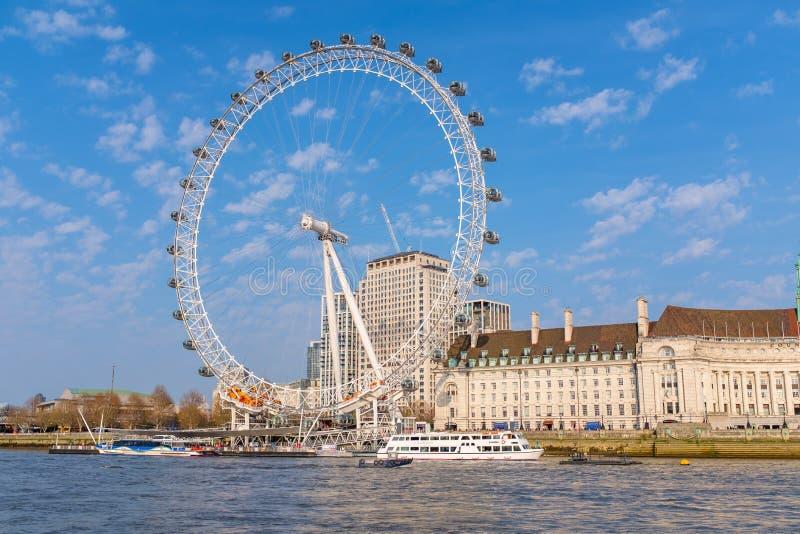 可口可乐伦敦眼在伦敦 免版税库存图片