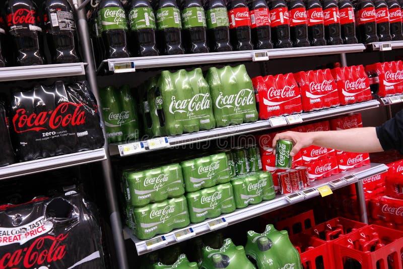 可口可乐生活 库存照片