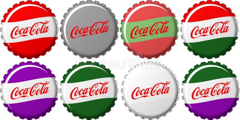 可口可乐盖帽 皇族释放例证