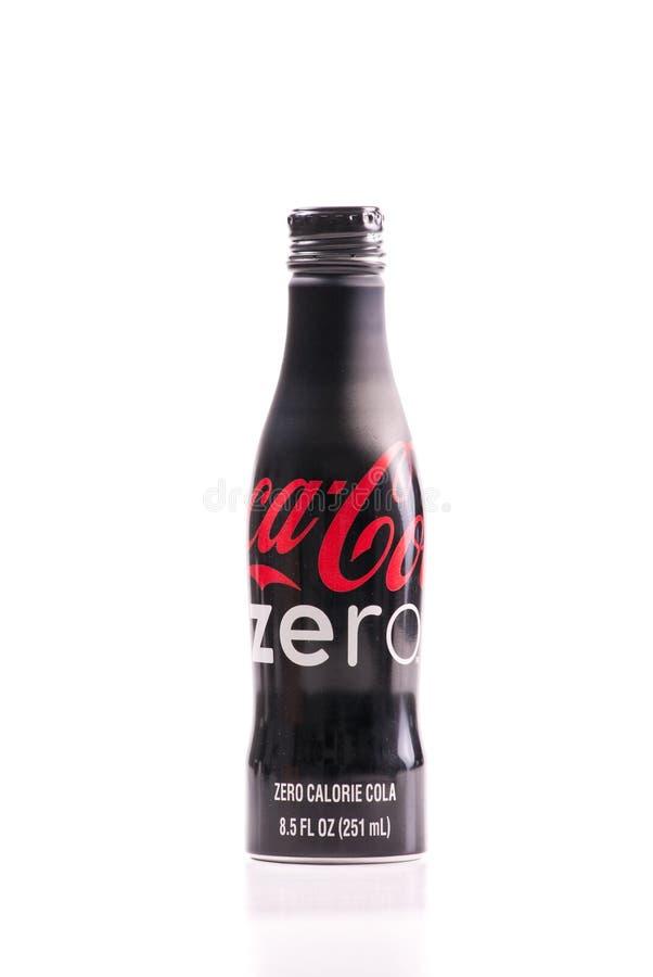 可口可乐编辑限制了零 库存图片