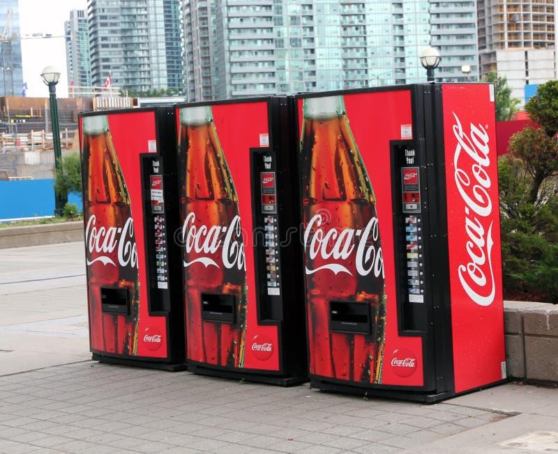 可口可乐设备自动贩卖机 图库摄影