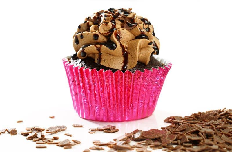 可口巧克力杯形蛋糕 库存图片