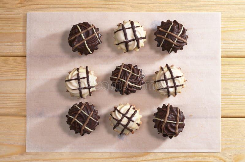 可口巧克力的曲奇饼 库存图片