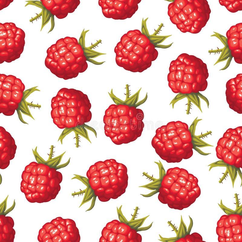 莓无缝的样式 皇族释放例证