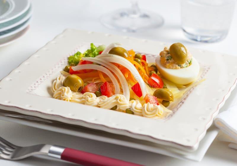 可口新鲜的夏天沙拉 免版税库存图片