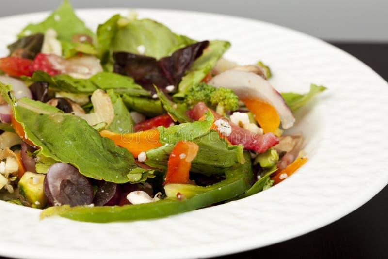 可口果子凉拌生菜蔬菜 免版税库存图片