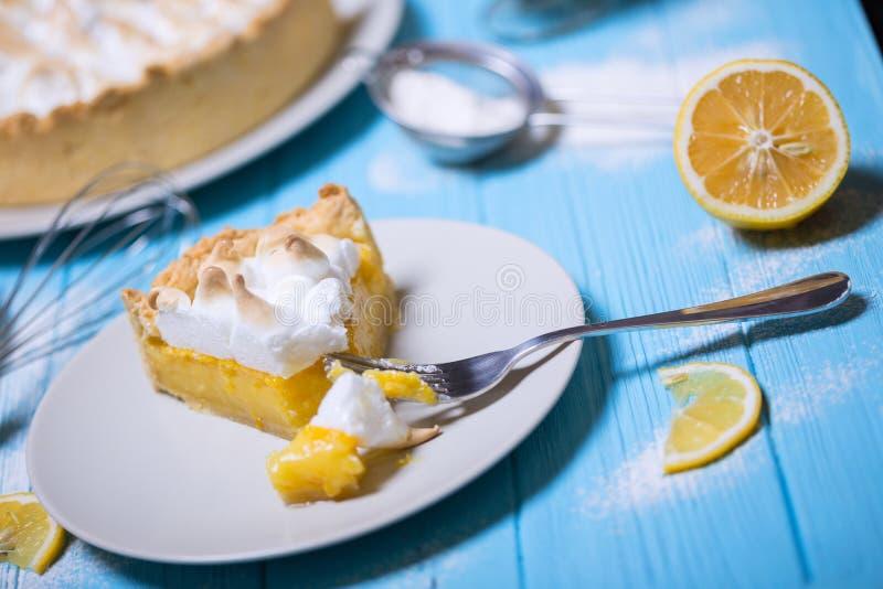 可口柠檬馅饼 库存照片