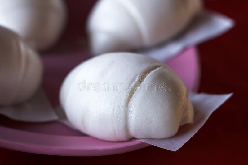 可口汉语蒸的小圆面包 库存照片