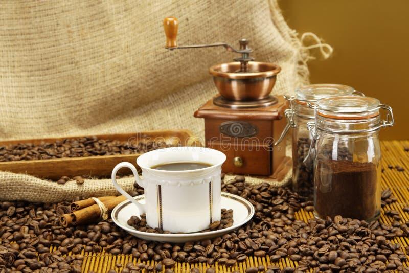 可口特写镜头的咖啡 库存照片
