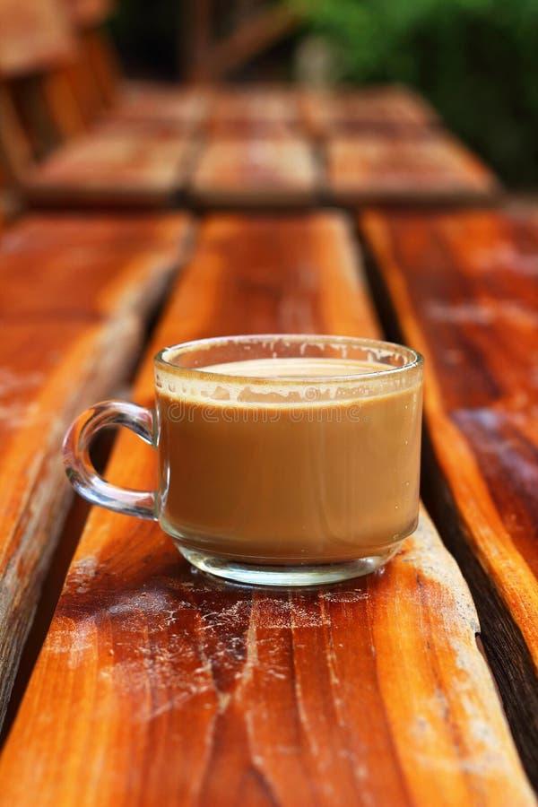 可口的咖啡杯 免版税库存照片