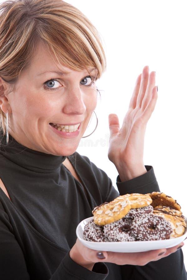 可口的曲奇饼 免版税图库摄影