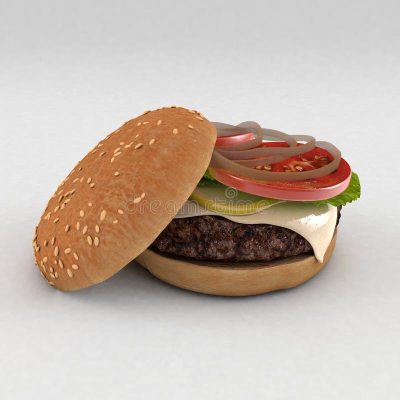 可口的汉堡 库存图片