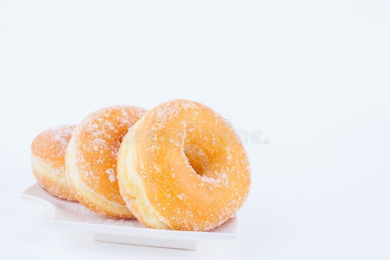 可口糖圆环多福饼 免版税库存照片
