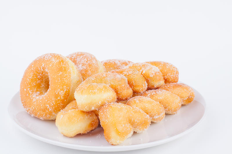 可口糖圆环多福饼 库存图片