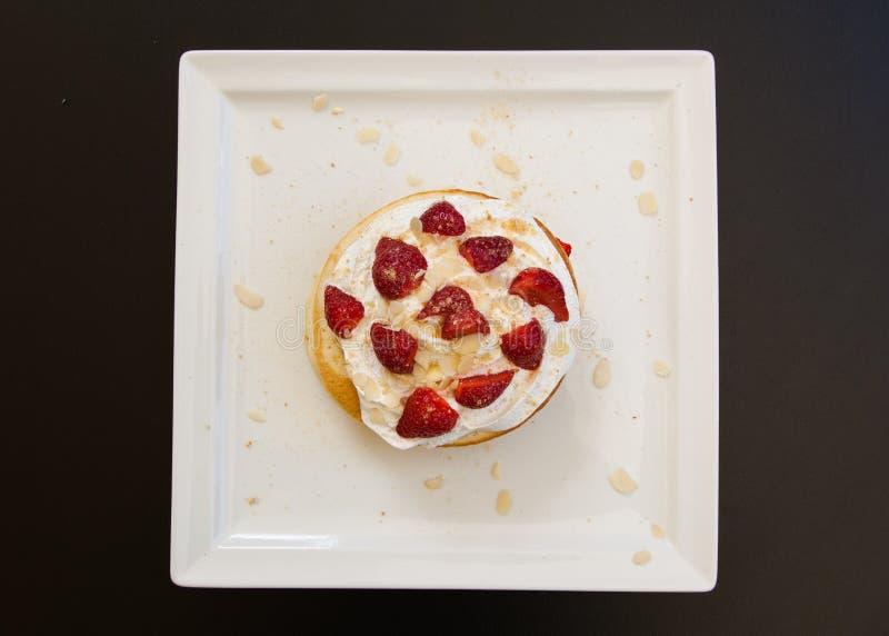 可口美国薄煎饼,新,五颜六色和可口dess 免版税库存图片