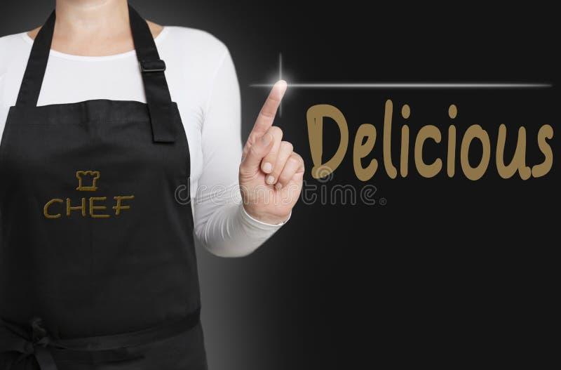 可口背景厨师被管理的触摸屏幕概念 免版税库存照片