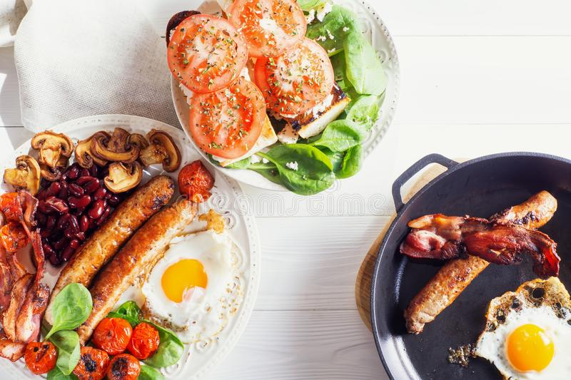 可口英式早餐 免版税图库摄影