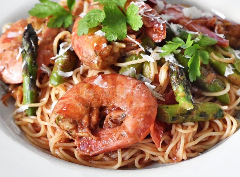 可口面团用伟大的虾或大虾 库存照片