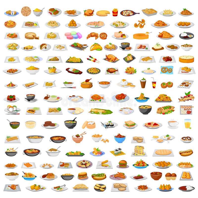 可口食物的汇集 库存例证
