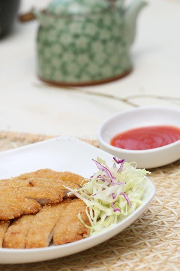 可口鱼准备牛排寿司 免版税库存图片