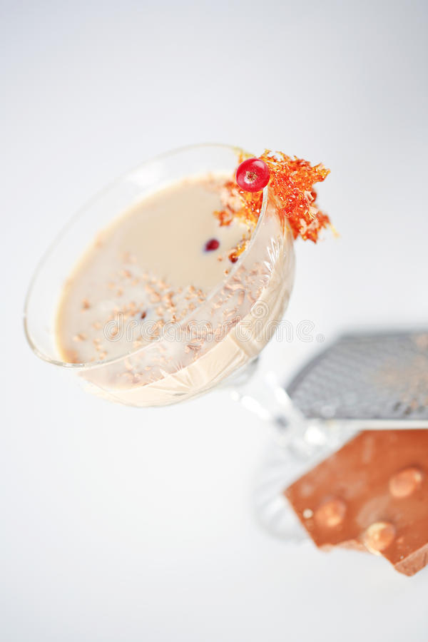 可口鸡尾酒用巧克力 免版税库存图片