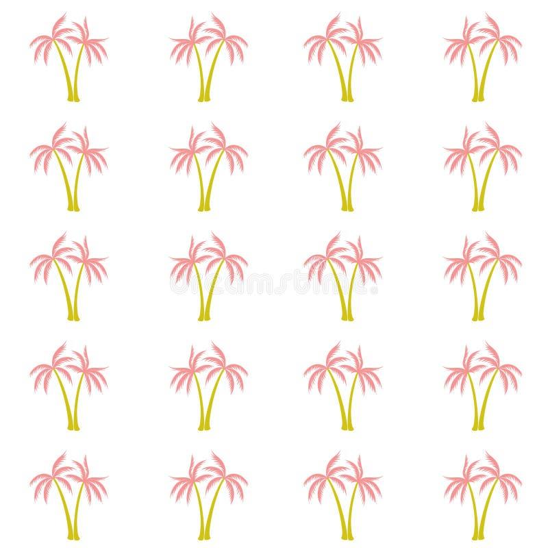 可可椰子树样式纺织材料热带森林背景 皇族释放例证