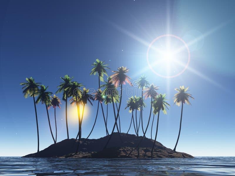 可可椰子 向量例证