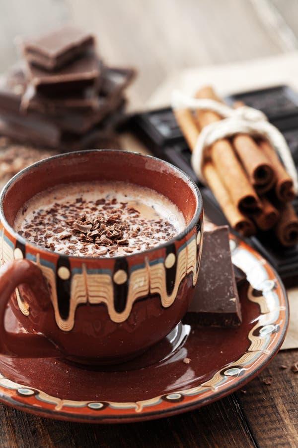 可可粉和巧克力 免版税库存图片