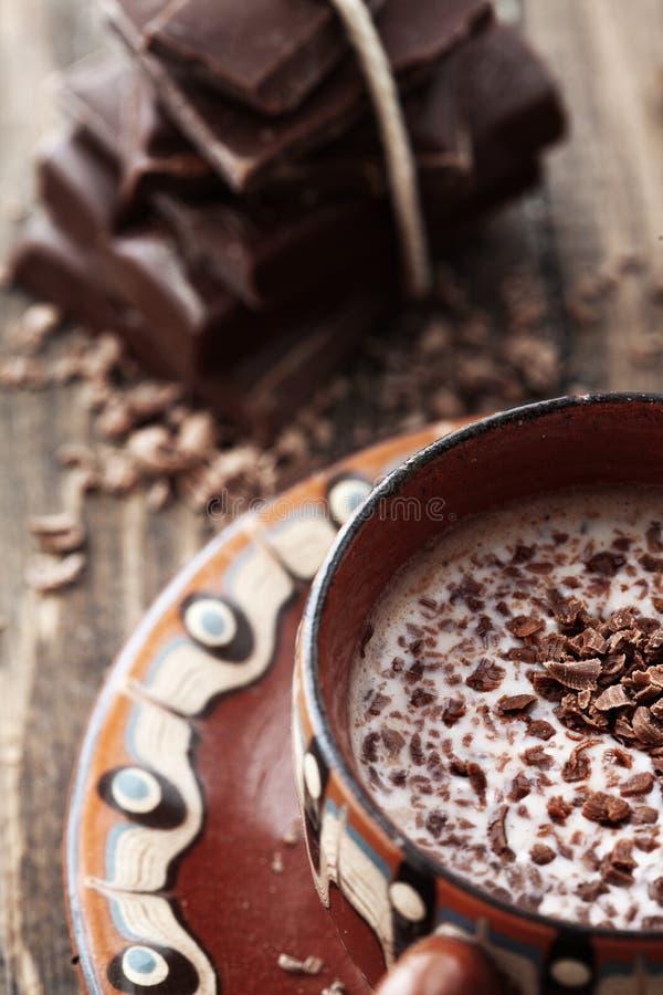 可可粉和巧克力 库存图片