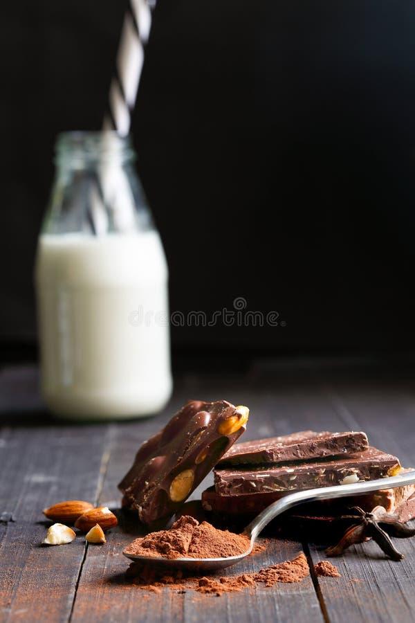 可可粉巧克力 库存照片