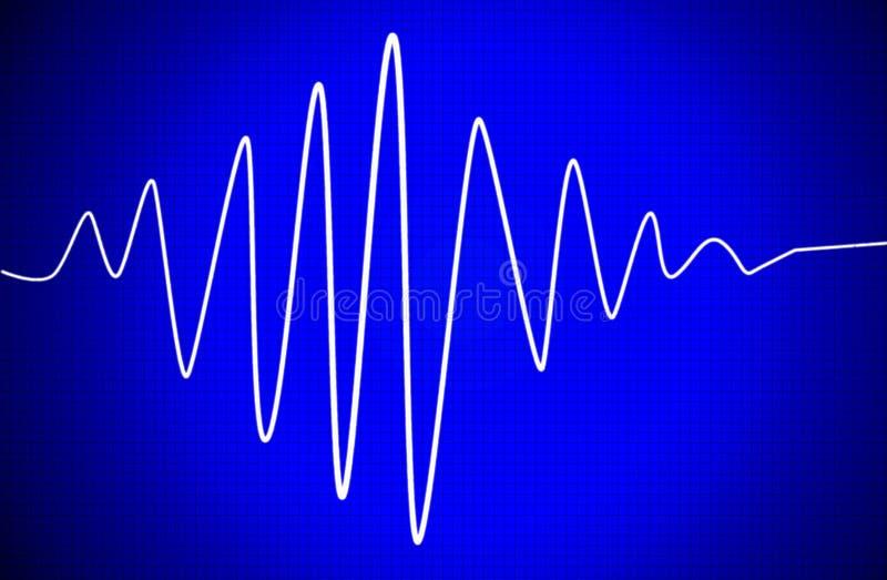 可听声信号 向量例证