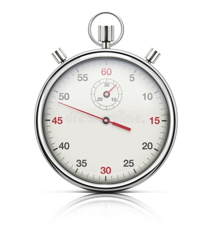 可实现的秒表 向量例证