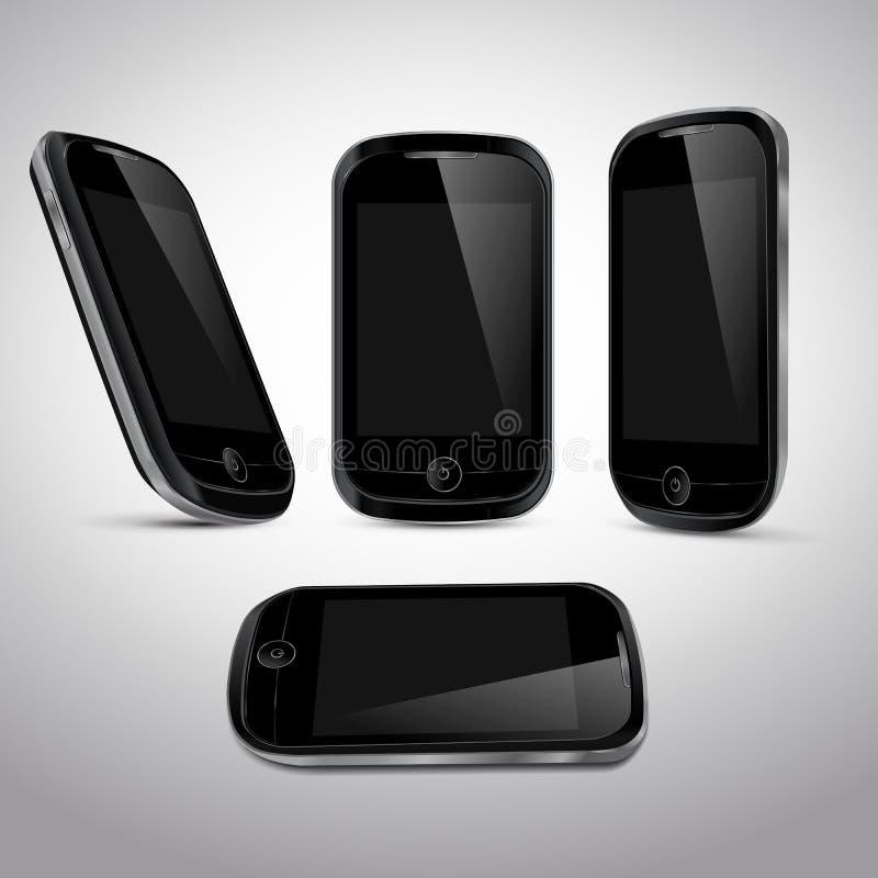 可实现的移动电话模板 库存例证