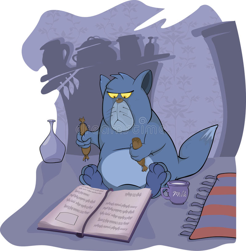 可怕书猫的童话 皇族释放例证