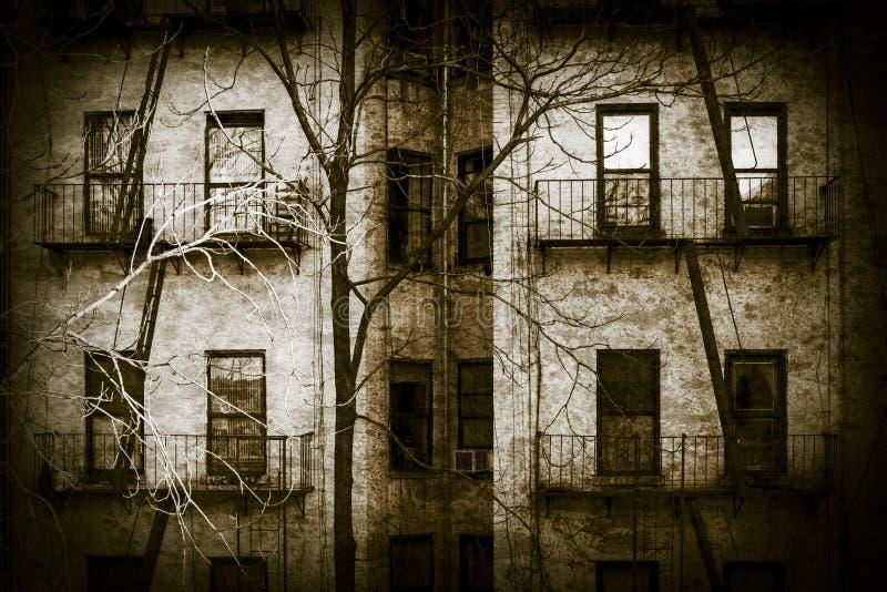 可怕公寓 免版税库存图片