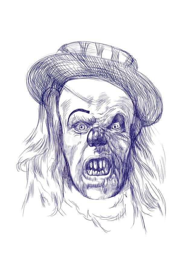 可怕恐怖小丑 向量例证