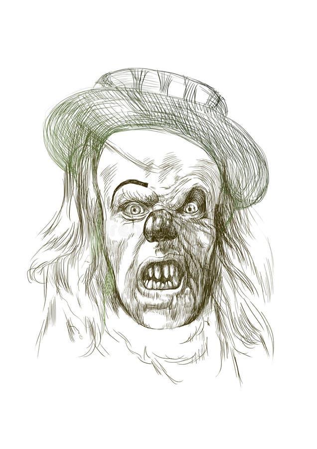 可怕恐怖小丑 库存例证