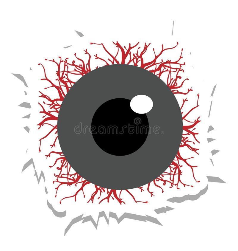 可怕的眼睛,惊恐颜色隔绝了可以容易地是编辑的传染媒介象或修改了 皇族释放例证