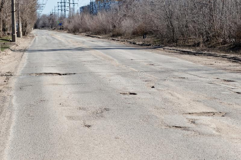 可怕的质量沥青路面路 图库摄影