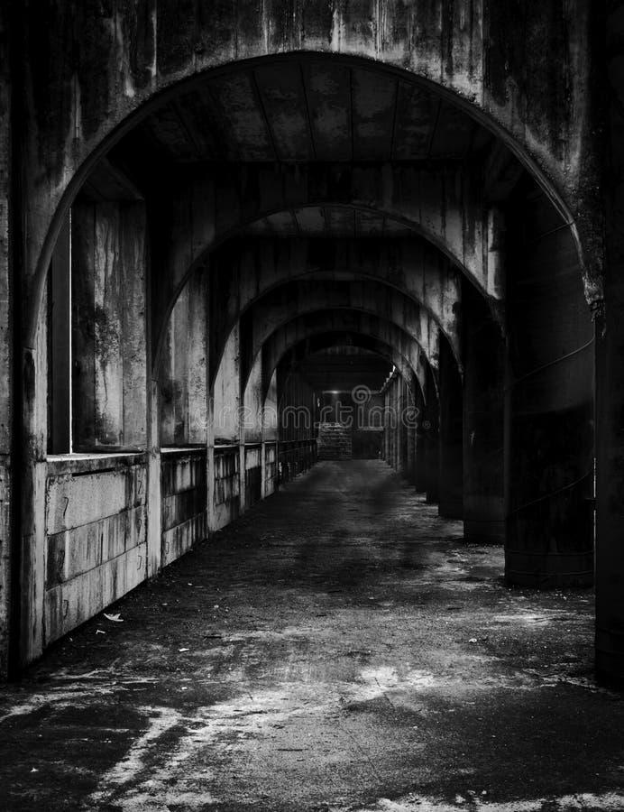 可怕老隧道 免版税库存图片