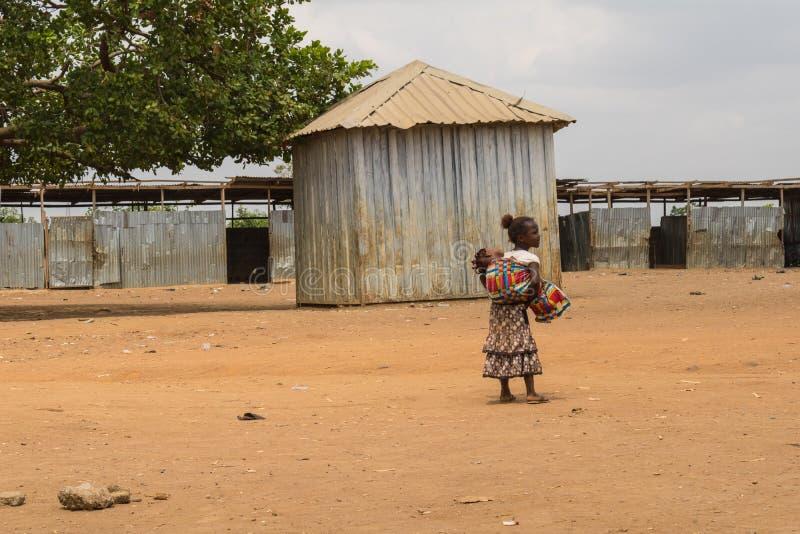 可怜的农村非洲孩子18 免版税库存图片