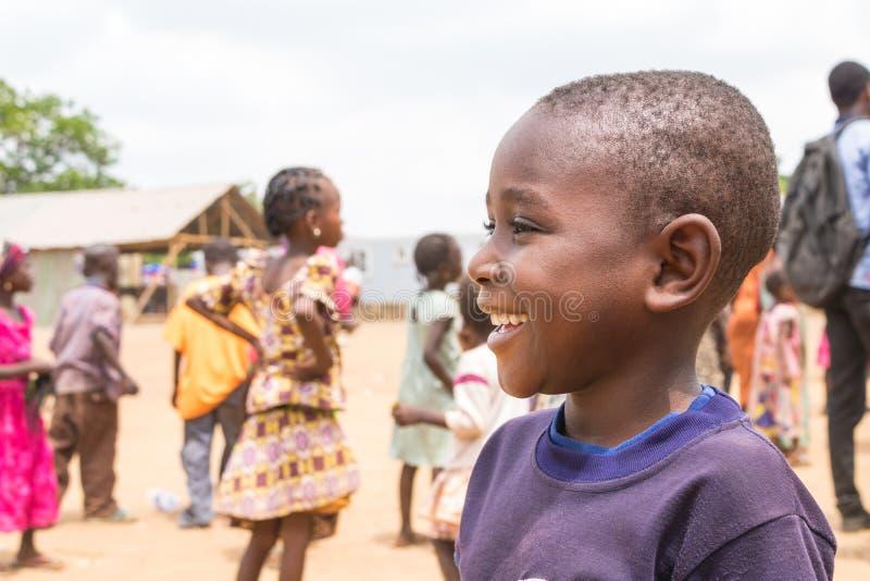 可怜的农村非洲孩子12 免版税库存照片