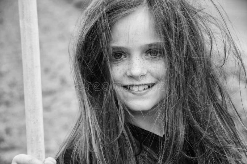 可怜的女孩 免版税库存照片