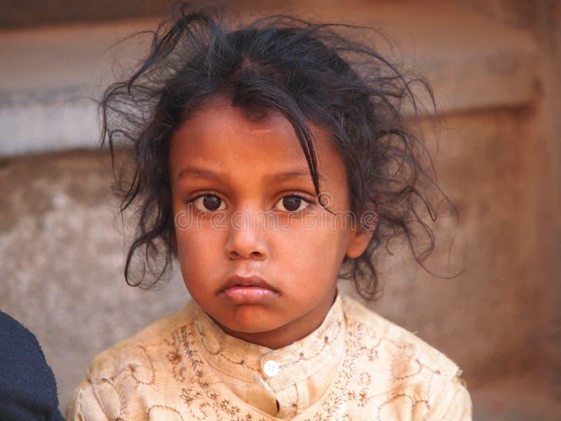 可怜的孩子 免版税库存照片