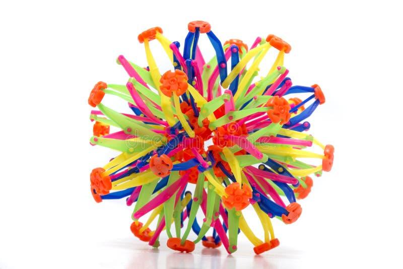 可折叠彩虹颜色球形 库存图片