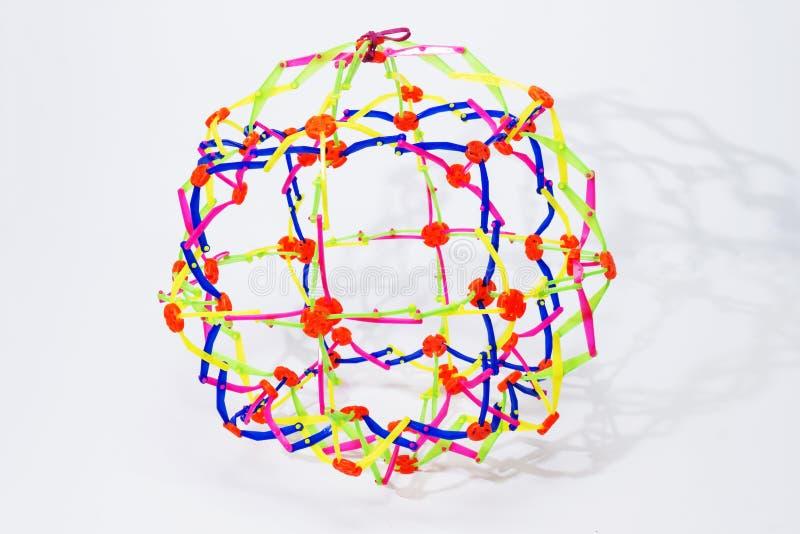 可折叠彩虹颜色球形 免版税库存图片