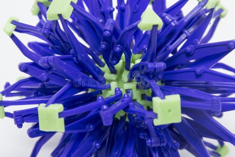 可折叠紫色和绿色球形 库存图片