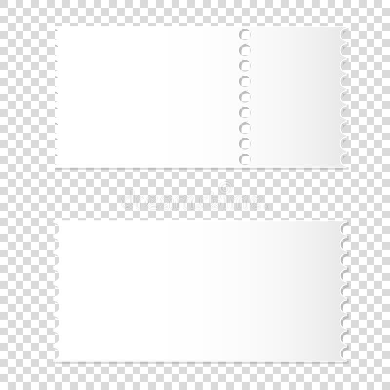 可拆的空白的白色票现实大模型  皇族释放例证